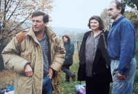 From the shooting of the film Forgotten Light (1996)