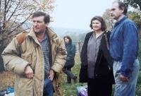 Z natáčania filmu Zapomenuté světlo (1996)