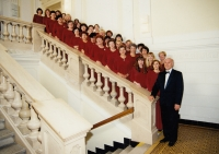 Milan Báchorek with the female choir of Bohuslav Martin at the start of 1990s
