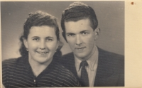 A brother and a sister, Jan a Marie Liška, in 1951