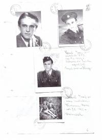 Josef Hasil se svou snoubenkou Marií Vávrovou (nar. 7. 8. 1931), Josef Hasil jako příslušník SNB i voják základní vojenské služby