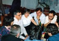 Václav Klaus with the representatives of Nový Jičín´s Civic Forum/ 1990