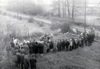 Platning the lime tree of freedom in the garden of a school in Žilina near Nový Jičín / October 28th 1968