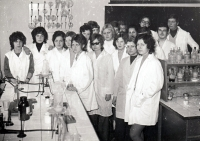 Pavel Bártek with his gymnasium classmates  / early 70s