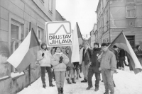 Company Drustav Jihlava arriving at the general strike
