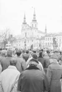 General strike in Jihlava on November 27, 1989