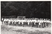 Ledeč nad Sázavou summer camp; 1967 - 1971, line-up for 'the Olympics'