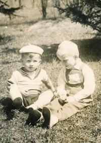Josef Baxa (on the left ), around 1963-1964