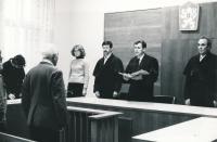 Josef Baxa as a Pilsen District Court judge, ca. 1985