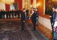 President Václav Havel appointing Josef Baxa president of the Supreme Administrative Court