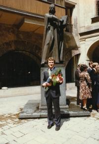 Josef Baxa after graduation