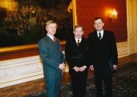 JUDr. Michal Mazanec, president Václav Havel and Josef Baxa (2003)