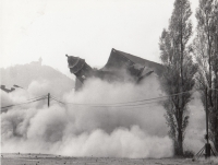 Demolition of a theatre in Most, 1983