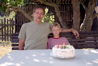 Michal Šaman on his son Dominik's ninth birthday (2003)