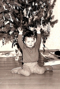 Michal Šaman as a boy at Christmas Eve, 1968 or 1969