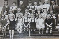 1940, v první třídě, Pavel Taussig v prostřední řadě čtvrtý zleva