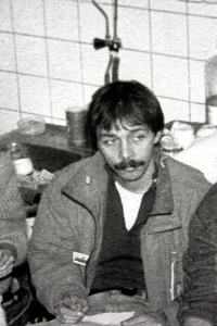 Michal Šaman at the beginning of the 1989 strike
