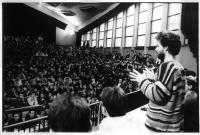 Slovak University of Technology during the revolution - in front Igor Brossmann
