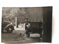 Young Lázló Regéczy-Nagy as a car mechanic