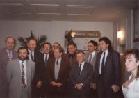 Zdeněk Hrubý a Václav Havel, 2. 11. 1993 - setkání s městskou radou