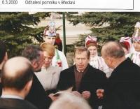 Zdeněk Hrubý a Václav Havel 6. 3. 2000, Odhalení pomníku T.G.M. 2