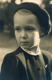 Charlotta at the age of 6 in 1947; photo by Josef Sudek