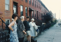 From the left: Charlotta Kotíková, her mother Herberta, her younger son Jan and her aunt Anna; Brooklyn 1992