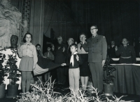 Jana Housková and Václav Marhoul at a scouts meeting in 1968.