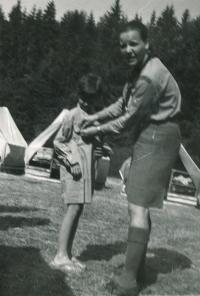 Summer camp in Koloděje. 1970