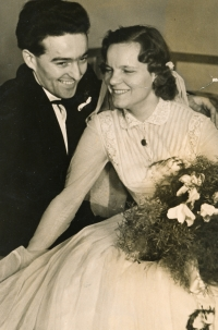 Leoš Houska and Dagmar Housková at their wedding. 1956