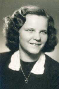 High school graduation photograph. 1954