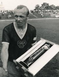 Ján Geleta v dresu pražské Dukly