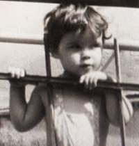 Dagmar's daughter Jana Housková. 1961-62
