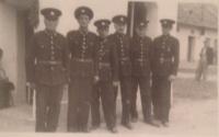 Richard Drábek (vpravo) v 17 letech u hasičů
