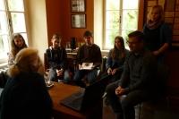 Rozhovor Ruth Hálové s žákovským týmem