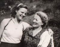 Dagmar and her mother. 1956