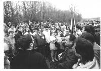 Zdeněk Hrubý během akce Ruce Evropy