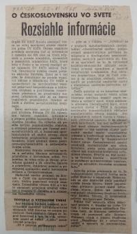 Article in Journal Pravda which critized Milan Dobeš´s work