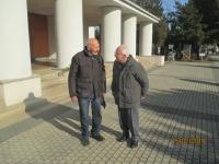 Oskar Randák a Eman Tuma při pohřbu Plavce - 2019