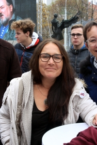Marie Hrečínová-Prodanová - one of the most active members of the strike committee (November 17th, 2019 )