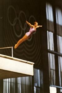 první skok Mileny Duchkové na OH v Mexiku 1968