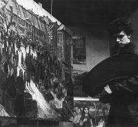 Milan Dobeš at the end of his study (1955)