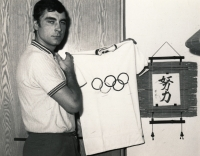 Jiří Daler in Brno just after the Olympics in Tokio in 1964