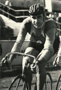 Jiří Daler při závodě,during the race in 2nd half of 1960s