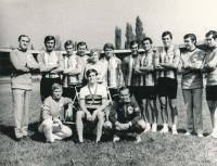 Championship of friendly armies in Brno in 1976 (Jiří Daler 2nd from top right)