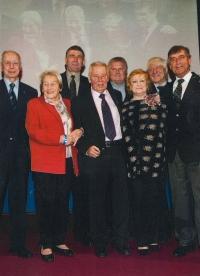 Josef Masopust's 80th birthday in 2011 (Jiří Daler, far right)