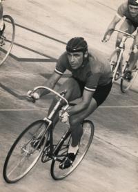 Jiří Daler during the scoring race, second half of the 1960s