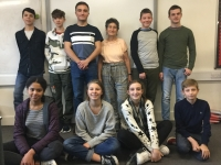 Students of the Czech school in London with Eva Turner in 2019