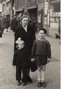 Dana with her brother Ivan and her grandmother Rela, Prague 1953