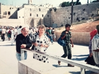 Emilia Sasinova and Max Preuss in Jerusalem